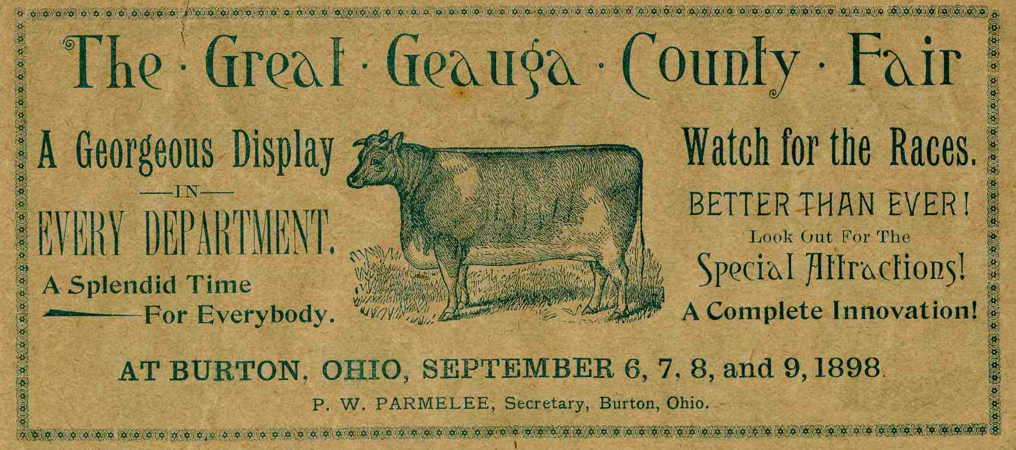 Geauga County Fair Ad